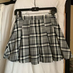 H&M plaid circle skirt